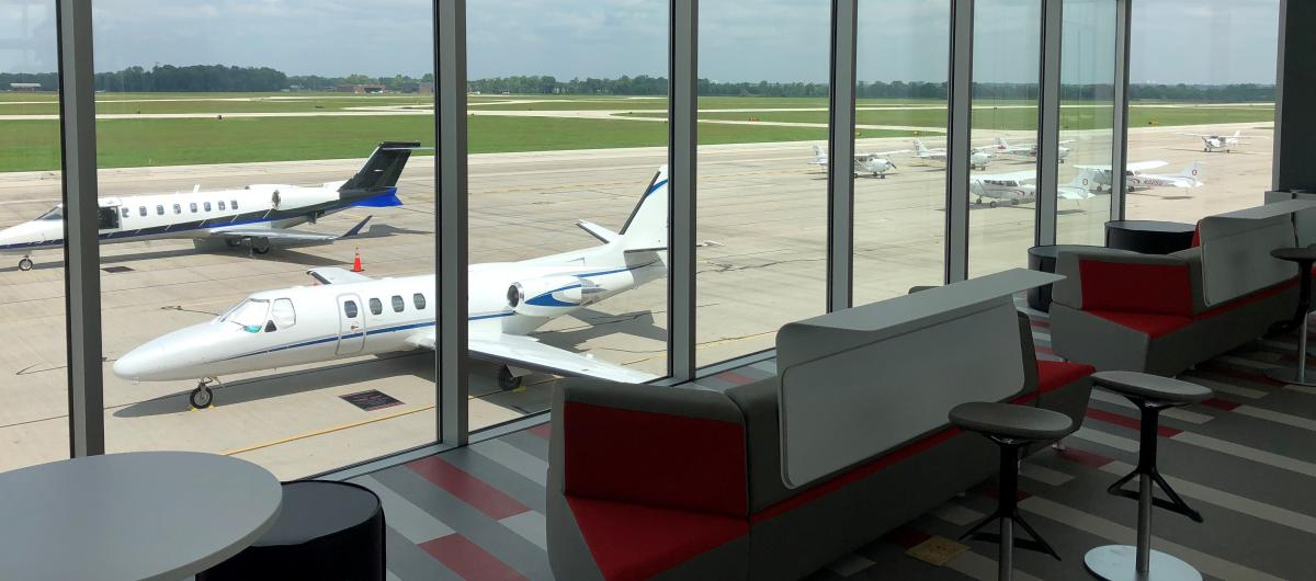 We have a wonderful place to view the airport.